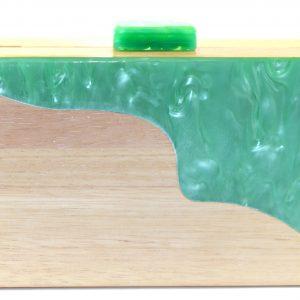 bolso fiesta madera y metacrilato verde mint 1